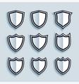 flat style shield symbols or badges set vector image vector image