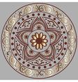 floral ethnic mandala vector image vector image