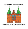 germany schleswig-holstein hanseatic city of vector image vector image
