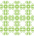 Grass green hop flowers digital seamless pattern vector image