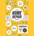 house remodeling service home repair tools vector image