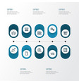 industry outline icons set collection of window vector image
