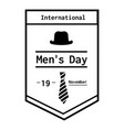 international men day poster icon simple style vector image vector image