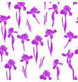 iris pattern violet vector image vector image