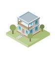 isolated isomatic small house property set vector image vector image