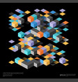 isometric abstract background with geometric vector image vector image