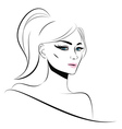 Lineart Girl vector image vector image