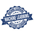 machine learning stamp sign seal vector image vector image