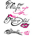 makeup artist banner with business concepts vector image