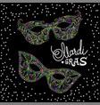 mardi gras carnival mask on black background vector image vector image