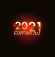 merry christmas happy new year 2021 gold red vector image