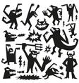 monsters - doodles set vector image vector image
