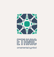 mosaic ethnic emblem vector image vector image