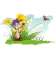 Mouse with a Flower vector image vector image