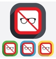 No glasses Retro glasses sign icon vector image vector image