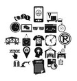 office work icons set simple style vector image