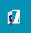 open door business and smartphone technology vector image