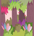 plants trees leaves bush landscape nature foliage vector image