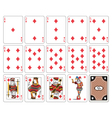 Playing cards diamond suit joker vector image vector image