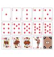 Playing cards diamond suit joker