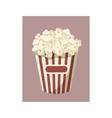 Popcorn icon cartoon style vector image