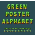 poster alphabet and numbers vector image vector image