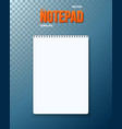 realistic black notepad template icon vector image