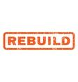 Rebuild Rubber Stamp vector image vector image