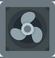 rotor blade fan icon flat isolated vector image vector image