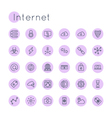 Round Internet Icons vector image vector image
