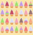 seamless pattern ice cream background vector image vector image