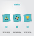 set of startup icons flat style symbols with vector image vector image