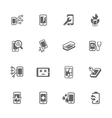 Simple Smart Phone Repair Icons vector image vector image