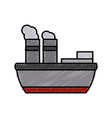 steam boat ship vector image
