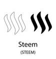 steem black silhouette vector image vector image