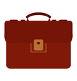 suitcase on white background vector image vector image