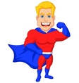 Superhero cartoon posing vector image