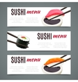 Sushi Banners Horizontal vector image vector image