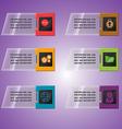 Technology border object colorful slant vector image vector image