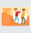 teen aggressive boy bullying classmate vector image vector image