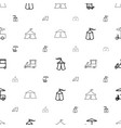 tent icons pattern seamless white background vector image vector image