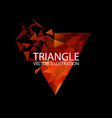 triangle logo geometric background vector image vector image