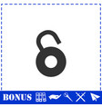 unlock icon flat vector image vector image
