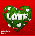 valentines day greeting background vector image vector image