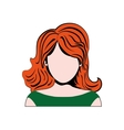 woman girl retro hair pop art icon graphic vector image vector image