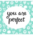 You are Perfect vector image vector image