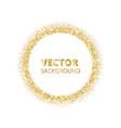 festive golden sparkle background glitter border vector image