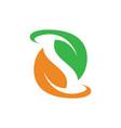leaf ecology icon logo image vector image
