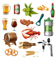 Oktoberfest Beer Icons Collection vector image