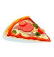 piece of pizza on white background vector image